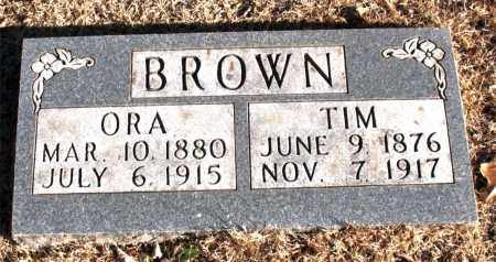BROWN, ORA - Carroll County, Arkansas | ORA BROWN - Arkansas Gravestone Photos