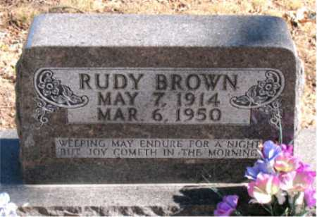 BROWN, RUDY - Carroll County, Arkansas | RUDY BROWN - Arkansas Gravestone Photos