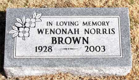 BROWN, WENONAH NORRIS - Carroll County, Arkansas | WENONAH NORRIS BROWN - Arkansas Gravestone Photos
