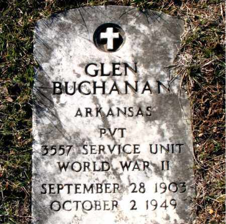 BUCHANAN (VETERAN WWII), GLEN - Carroll County, Arkansas | GLEN BUCHANAN (VETERAN WWII) - Arkansas Gravestone Photos