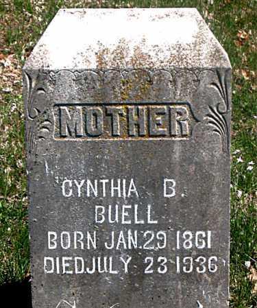 BUELL, CYNTHIA B. - Carroll County, Arkansas | CYNTHIA B. BUELL - Arkansas Gravestone Photos