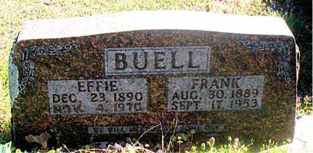 BUELL, EFFIE - Carroll County, Arkansas | EFFIE BUELL - Arkansas Gravestone Photos