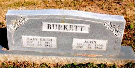 BURKETT, MARY  EDITH - Carroll County, Arkansas | MARY  EDITH BURKETT - Arkansas Gravestone Photos