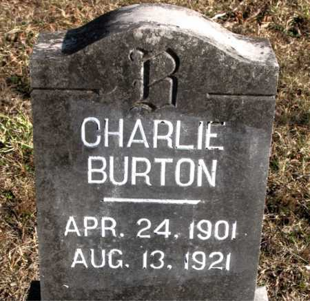 BURTON, CHARLIE - Carroll County, Arkansas | CHARLIE BURTON - Arkansas Gravestone Photos
