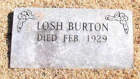 BURTON, LOSH - Carroll County, Arkansas | LOSH BURTON - Arkansas Gravestone Photos