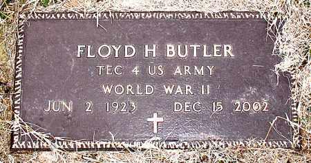 BUTLER (VETERAN WWII), FLOYD H. - Carroll County, Arkansas | FLOYD H. BUTLER (VETERAN WWII) - Arkansas Gravestone Photos