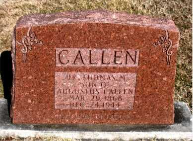 CALLEN     DR., THOMAS M. - Carroll County, Arkansas | THOMAS M. CALLEN     DR. - Arkansas Gravestone Photos