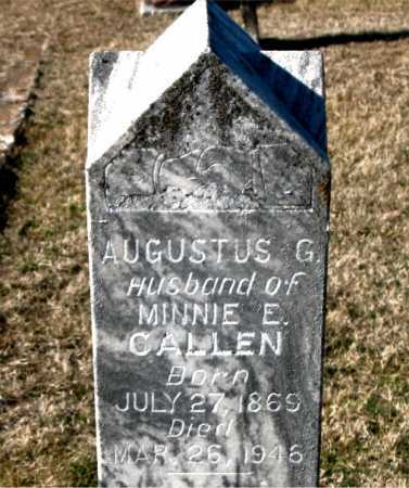 CALLEN, AUGUSTUS G - Carroll County, Arkansas | AUGUSTUS G CALLEN - Arkansas Gravestone Photos