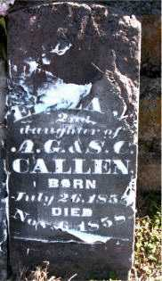 CALLEN, ELIZA - Carroll County, Arkansas | ELIZA CALLEN - Arkansas Gravestone Photos