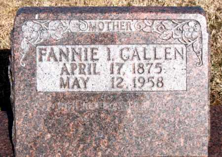 CALLEN, FANNIE I - Carroll County, Arkansas | FANNIE I CALLEN - Arkansas Gravestone Photos