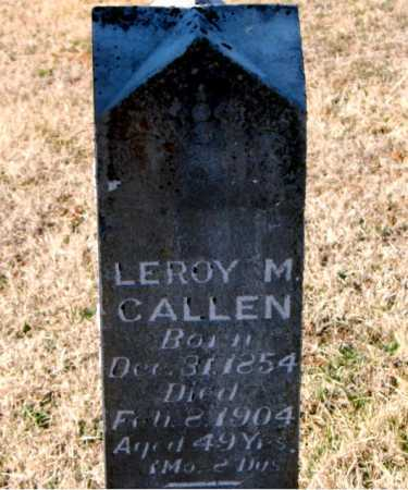 CALLEN, LEROY M. - Carroll County, Arkansas | LEROY M. CALLEN - Arkansas Gravestone Photos