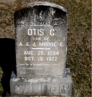 CALLEN, OTIS G - Carroll County, Arkansas | OTIS G CALLEN - Arkansas Gravestone Photos