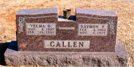 CALLEN, RAYMON  F. - Carroll County, Arkansas | RAYMON  F. CALLEN - Arkansas Gravestone Photos