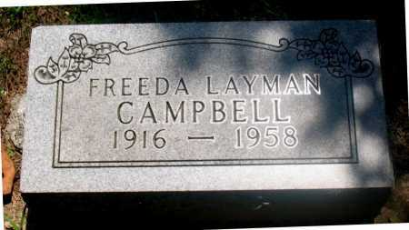 LAYMAN CAMPBELL, FREEDA - Carroll County, Arkansas | FREEDA LAYMAN CAMPBELL - Arkansas Gravestone Photos