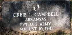 CAMPBELL (VETERAN), KIRBIE L - Carroll County, Arkansas | KIRBIE L CAMPBELL (VETERAN) - Arkansas Gravestone Photos