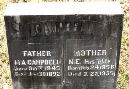 CAMPBELL, N.E. - Carroll County, Arkansas | N.E. CAMPBELL - Arkansas Gravestone Photos