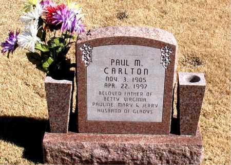 CARLTON, PAUL  M. - Carroll County, Arkansas | PAUL  M. CARLTON - Arkansas Gravestone Photos