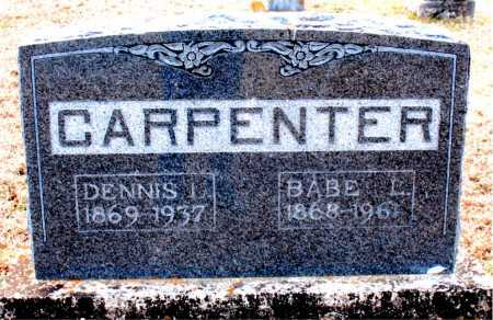 CARPENTER, BABE L - Carroll County, Arkansas | BABE L CARPENTER - Arkansas Gravestone Photos