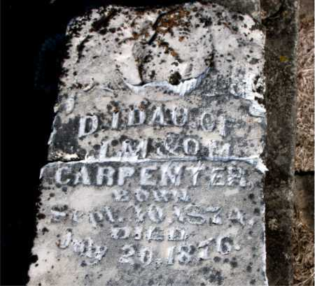 CARPENTER, INFANT DAUGHTER - Carroll County, Arkansas | INFANT DAUGHTER CARPENTER - Arkansas Gravestone Photos