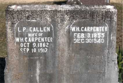CALLEN CARPENTER, L. P. - Carroll County, Arkansas | L. P. CALLEN CARPENTER - Arkansas Gravestone Photos