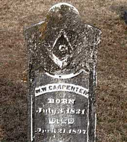 CARPENTER, W  W - Carroll County, Arkansas | W  W CARPENTER - Arkansas Gravestone Photos