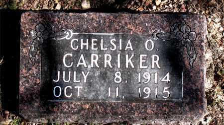 CARRIKER, CHELSIA O - Carroll County, Arkansas | CHELSIA O CARRIKER - Arkansas Gravestone Photos