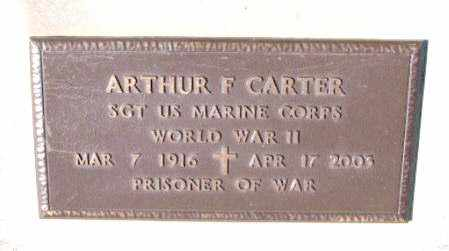 CARTER (VETERAN WWII, POW), ARNOLD F - Carroll County, Arkansas | ARNOLD F CARTER (VETERAN WWII, POW) - Arkansas Gravestone Photos