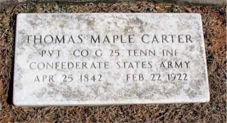 CARTER (VETERAN CSA), THOMAS MAPLE - Carroll County, Arkansas | THOMAS MAPLE CARTER (VETERAN CSA) - Arkansas Gravestone Photos