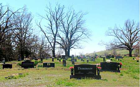 *FAIR GROVE CEMETERY OVERVIEW,  - Carroll County, Arkansas |  *FAIR GROVE CEMETERY OVERVIEW - Arkansas Gravestone Photos