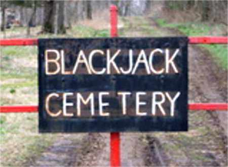 *BLACKJACK CEMETERY SIGN,  - Carroll County, Arkansas |  *BLACKJACK CEMETERY SIGN - Arkansas Gravestone Photos