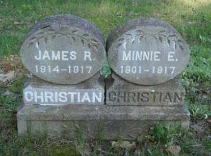 CHRISTIAN, MINNIE E. - Carroll County, Arkansas | MINNIE E. CHRISTIAN - Arkansas Gravestone Photos