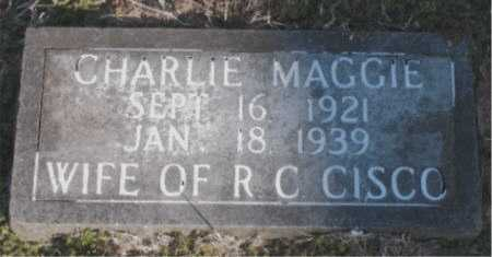 CISCO, CHARLIE MAGGIE - Carroll County, Arkansas | CHARLIE MAGGIE CISCO - Arkansas Gravestone Photos