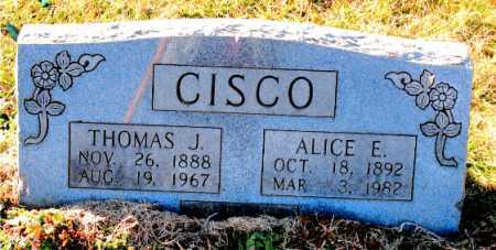 CISCO, ALICE E. - Carroll County, Arkansas | ALICE E. CISCO - Arkansas Gravestone Photos