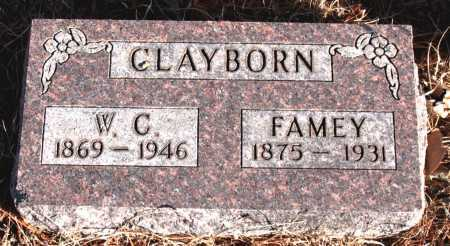 CLAYBORN, FAMEY - Carroll County, Arkansas | FAMEY CLAYBORN - Arkansas Gravestone Photos