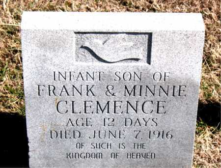 CLEMENCE, INFANT SON - Carroll County, Arkansas   INFANT SON CLEMENCE - Arkansas Gravestone Photos