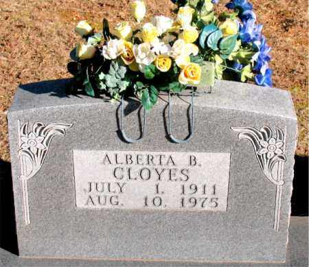 CLOYES, ALBERTA  B. - Carroll County, Arkansas | ALBERTA  B. CLOYES - Arkansas Gravestone Photos