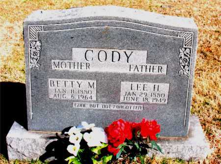 CODY, BETTY M. - Carroll County, Arkansas | BETTY M. CODY - Arkansas Gravestone Photos