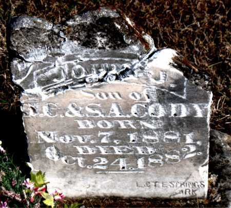 CODY, JOHN J. - Carroll County, Arkansas | JOHN J. CODY - Arkansas Gravestone Photos