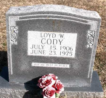 CODY, LOYD W. - Carroll County, Arkansas | LOYD W. CODY - Arkansas Gravestone Photos