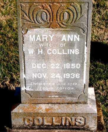 COLLINS, MARY  ANN - Carroll County, Arkansas | MARY  ANN COLLINS - Arkansas Gravestone Photos