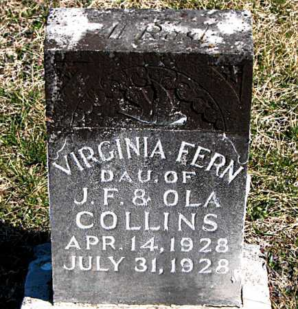 COLLINS, VIRGINIA FERN - Carroll County, Arkansas | VIRGINIA FERN COLLINS - Arkansas Gravestone Photos