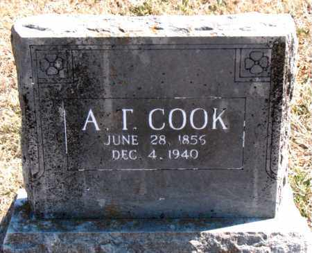 COOK, A. T. - Carroll County, Arkansas | A. T. COOK - Arkansas Gravestone Photos