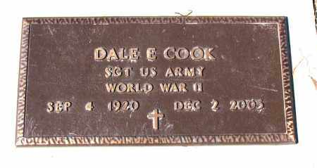 COOK (VETERAN WWII), DALE E - Carroll County, Arkansas | DALE E COOK (VETERAN WWII) - Arkansas Gravestone Photos
