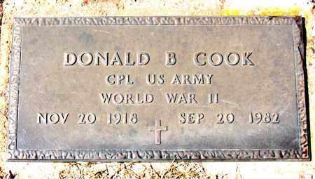 COOK (VETERAN WWII), DONALD B - Carroll County, Arkansas | DONALD B COOK (VETERAN WWII) - Arkansas Gravestone Photos