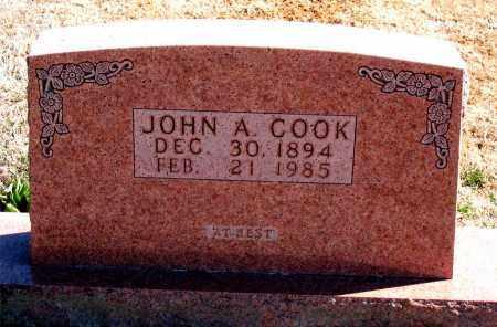 COOK, JOHN A. - Carroll County, Arkansas   JOHN A. COOK - Arkansas Gravestone Photos