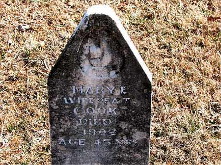 COOK, MARY E. - Carroll County, Arkansas | MARY E. COOK - Arkansas Gravestone Photos