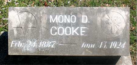 COOKE, MONO D . - Carroll County, Arkansas | MONO D . COOKE - Arkansas Gravestone Photos