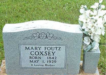FOUTZ COXSEY, MARY - Carroll County, Arkansas | MARY FOUTZ COXSEY - Arkansas Gravestone Photos