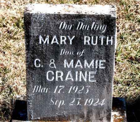CRAINE, MARY RUTH - Carroll County, Arkansas | MARY RUTH CRAINE - Arkansas Gravestone Photos