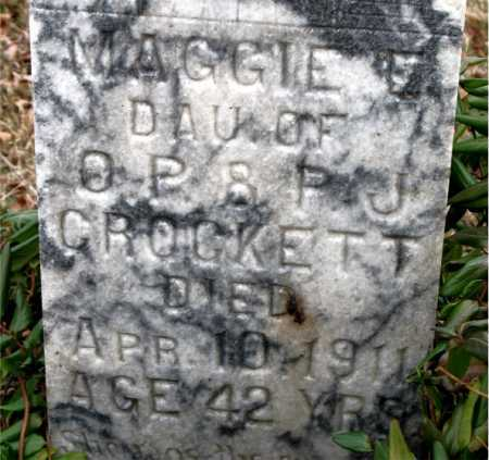 CROCKETT, MAGGIE - Carroll County, Arkansas | MAGGIE CROCKETT - Arkansas Gravestone Photos